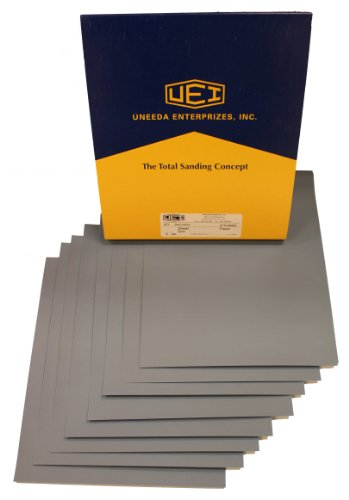 "Uneeda M-101848 991A 9"" x 11"" 320 Grit Silicon Carbide Waterproof Paper Wet and Dry Sheet, (Pack of 50)"