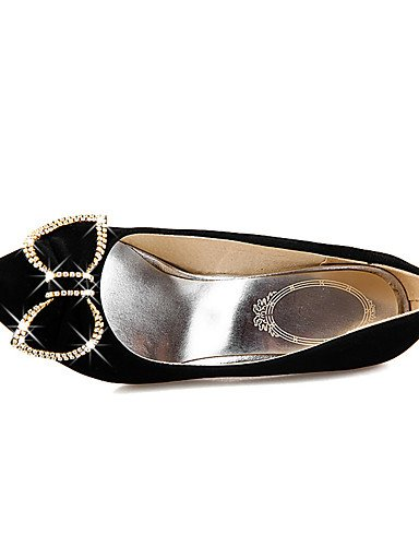GGX/Damen Schuhe Stiletto Heel Spitz Zulaufender Zehenbereich Schleife Strass Pumpe mehr Farbe erhältlich black-us5.5 / eu36 / uk3.5 / cn35