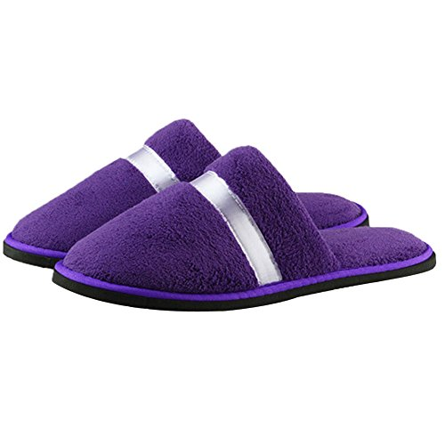 RoseSummer Women Men Open Toe Winter Slippers House Indoor Shoes Purple l9ikD