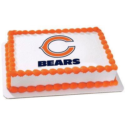 Chicago Bears Licensed Edible Cake Topper #4492