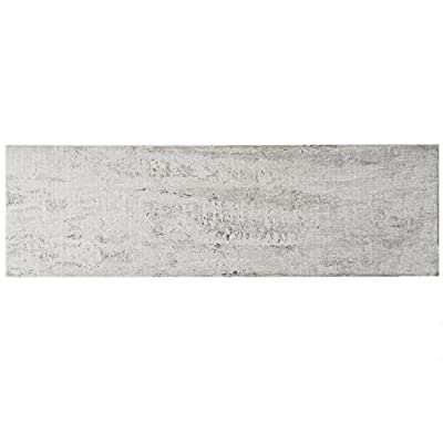 "SomerTile FGFORIGR Fuente Porcelain Floor and Wall Tile, 7.875"" x 25.875"", Grey"