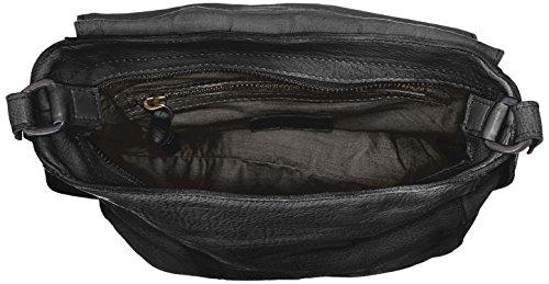 Legend Damen Dory Schultertasche, 9x24x28 cm Schwarz (Black)