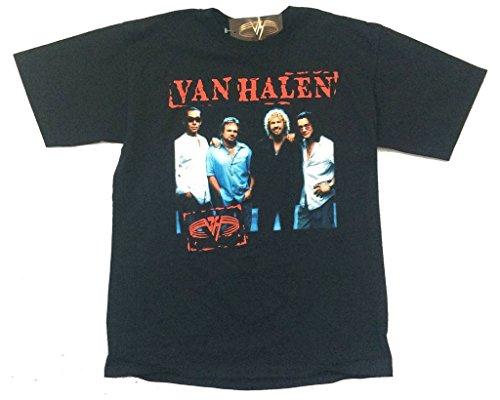 Van Halen Stamp Band Image 2004 Tour USA Black T Shirt. M, L, XL