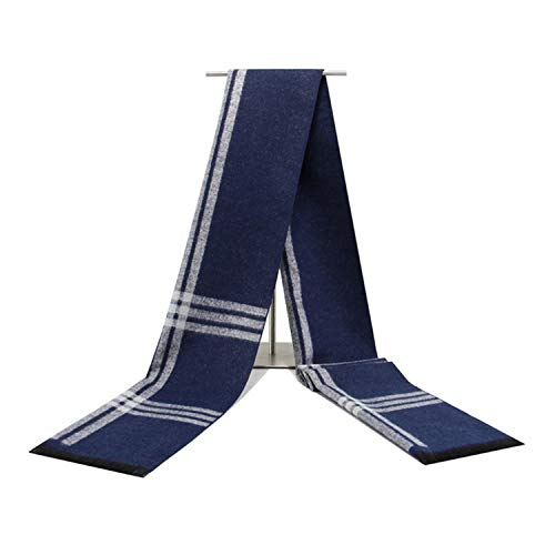 Bleu Changer Gris Automne Écharpe Pour Coton Hommes 180cm Rayé Amdxd Hiver qx4YztBx