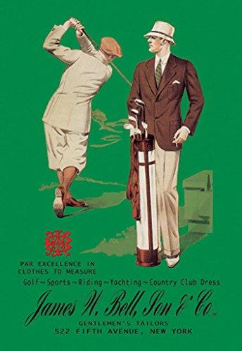 ArtParisienne James W. Bell, Son & Co. Gentlemen's Tailors New York 20x30 Poster Semi-Gloss Heavy Stock Paper Print