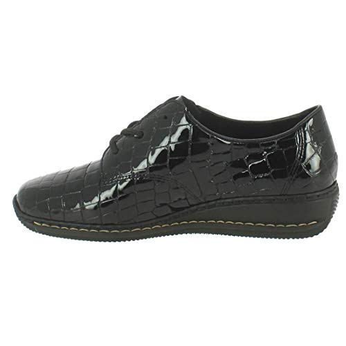 Noir Derby RIEKER noir cuir 00 44310 verni BSwYq1B
