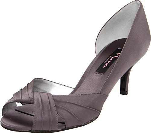 Nina Women's Culver Steel/Stealth Gray/Stealth Gray D'Orsay 11 W
