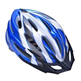 QHY High-Breathability PC+EPS Black Bicycle Helmet With Detachable Sunvisor (21 Vents) - Blue + Silver
