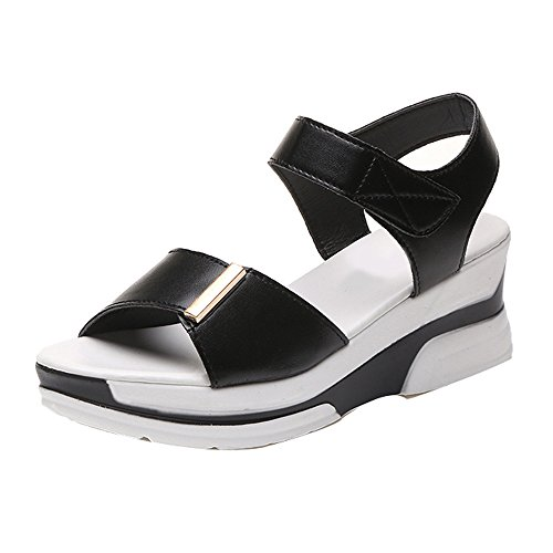 À Compensées Ouvert D'étudiant Pour Plates De Nior D'été Femme sans Boîte Avec Dodumi Chaussures Couleur Femmes Bouche Sandales Poisson Unie Chaussures Bout xRwqtpOY