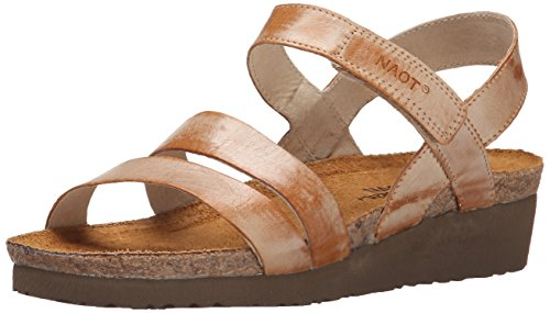 NAOT Women's Kayla Wedge Sandal Biscuit Leather outlet store cheap online e2UjcO