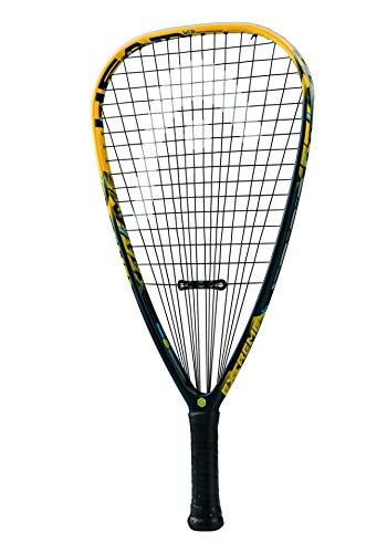 HEAD Graphene Touch Extreme 155 Racquetball Racket  Pre-Strung Head Heavy Balance Racquet - 3 5/8 Inch Grip