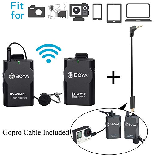 BOYA BY-WM2G Lavalier Wireless Microphone with GoPro Cable...