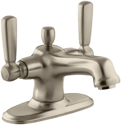 (KOHLER K-10579-4-BV Bancroft Monoblock Lavatory Faucet, Vibrant Brushed Bronze)
