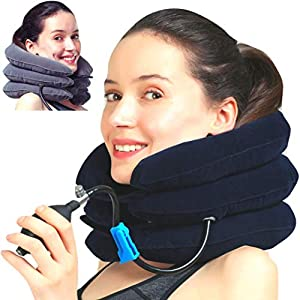MEDIZED® Cervical Neck Traction Device & Collar Brace, FDA Approved Inflatable & Adjustable Neck Support Pillow is Ideal… 3