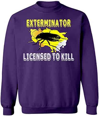 ca30c566f Stuch Strength LLC Funny Cockroach - Exterminator Licensed to Kill - Bug  Insect Pest Humor -