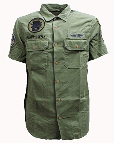 Denim & Supply by Ralph Lauren Men's Long-Sleeved Shirt Denim and Supply by Ralph Lauren Marine Corp Olive - XL, Green