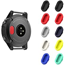 MoKo Garmin Fenix 5/5S/5X/Plus/Forerunner 935 Dust Plug, [10 PACK] Soft Silicone Charger Port Protector Anti Dust Plugs Caps for Garmin Fenix 5/5S/5X/Forerunner 935 Watch, Multi Colors