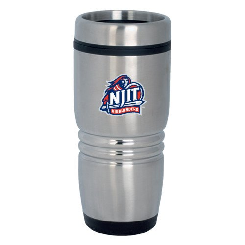 NJIT Rolling Ridges Silver Stainless Tumbler 16oz 'Official Logo' by CollegeFanGear