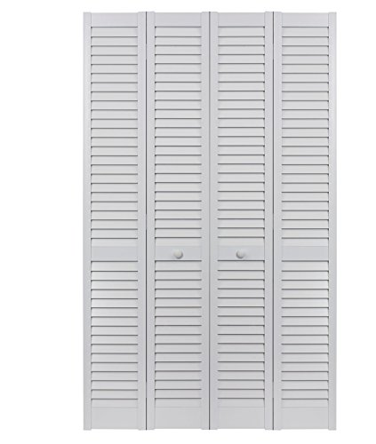 LTL Home Products SEALL48 Seabrooke PVC Louvered Interior Bifold Door (2 Pack), 78.625