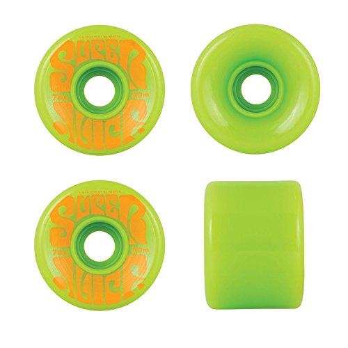 (OJ III Skateboard Longboard Cruiser Wheels 60mm Super Juice 78A Green)