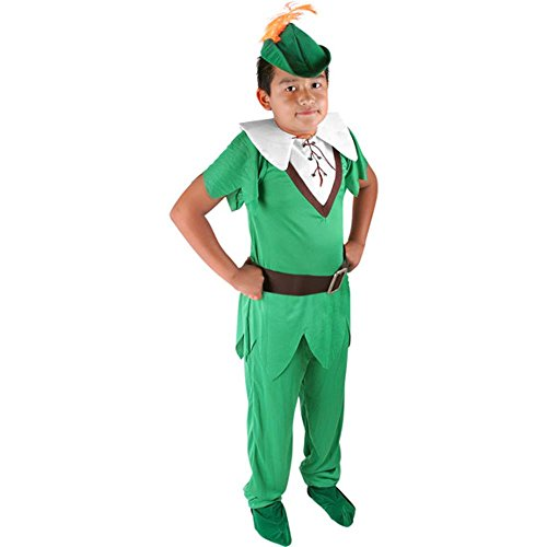 Child Deluxe Peter Pan Costumes (Child's Deluxe Peter Pan Halloween Costume (Size: Large 10))