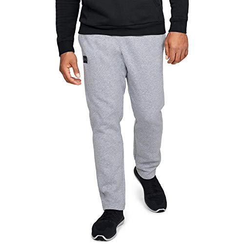 Blend Cotton Sweatpants (Under Armour Men's Rival fleece pants, Steel Light Heather (036)/Black, Large)