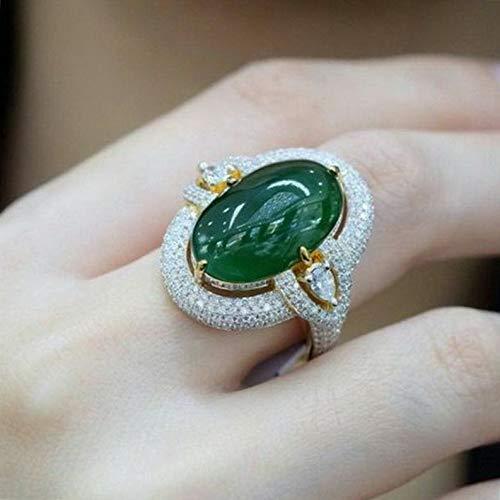 Waldenn 925 Silver Emerald Gemstone Jewelry Women Man Wedding Engagement Ring Size 6-10 | Model RNG - 14719 | 8 (Bell Smoke Brass)