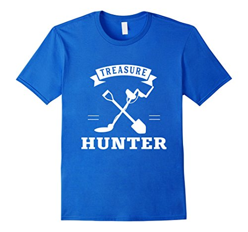 Mens Treasure Hunters Metal Detector Hunting Gear Tracker Shirt 2XL Royal (Treasure Tracker Metal)