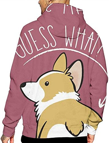 1Zlr2a0IG PecoStar Corgi What Winter Mens Hoodies Full 3D Printed Graphic Sweatshirt Breathable Fashion Pullover with Pockets