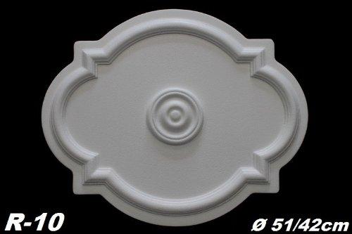 1 Rosette Deckenrosette Stuck Dekorrosette Dekor Wand Polystyrol /Ø51//42cm R-10