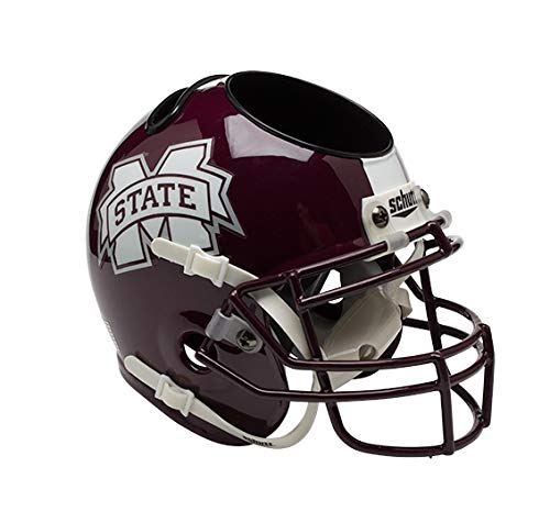 NCAA Mississippi State Bulldogs Mini Helmet Desk Caddy (Mississippi State Office Supplies)