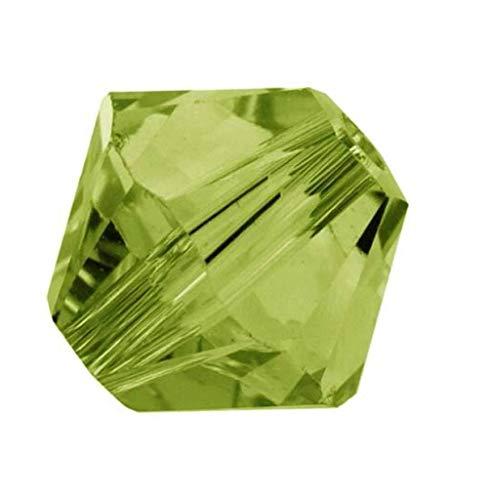 25pcs x Preciosa Bicone Crystal Beads 8mm Olivine Green Compatible with Swarovski #5301/5328#preb819