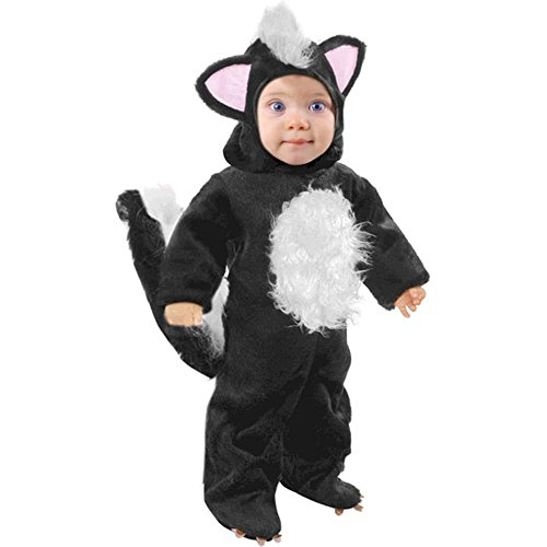Cute Skunk Costumes - Child's Toddler Black Skunk Costume (2-4T)