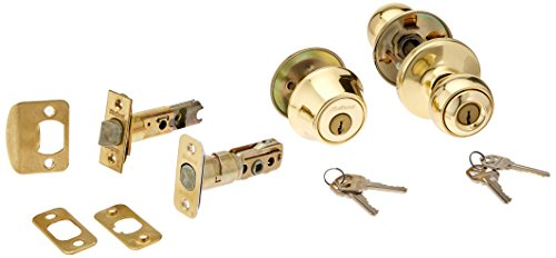 Kwikset 690P 3 6AL RCS 690 Polo Keyed Entry Knob And Single Cylinder Deadbolt Combo Pack, Polished Brass