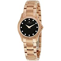 Movado Masion Black Dial Women's Diamond Watch