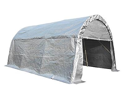 peaktop Heavy Duty 20'x13' Carport Garage Car Shelter Canopy Storage Tent for Truck SUV Boat