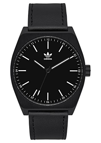 Adidas Watches Process_L1. Genuine Leather Strap, 20mm Width (All Black/White. 38 mm).
