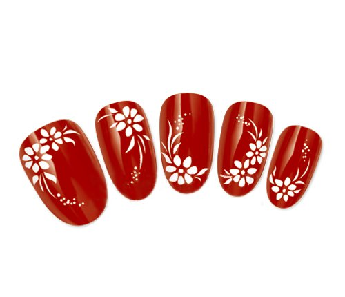 COME 2 BUY - Nail Art Tatoo/Wrap Water Transfer Decals Pretty White Flowers & Leaf Design For Nail Art / Cell Phone Case / Invitation Cards Decorations D¨¦cor Come2Buy