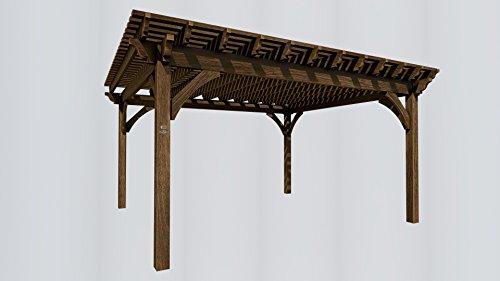 Amazon Com Shadescape 16x18 Pergola 6 000 Series Heavy Timber