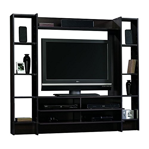 Sauder Beginnings Entertainment Wall System, Cinnamon Cherry