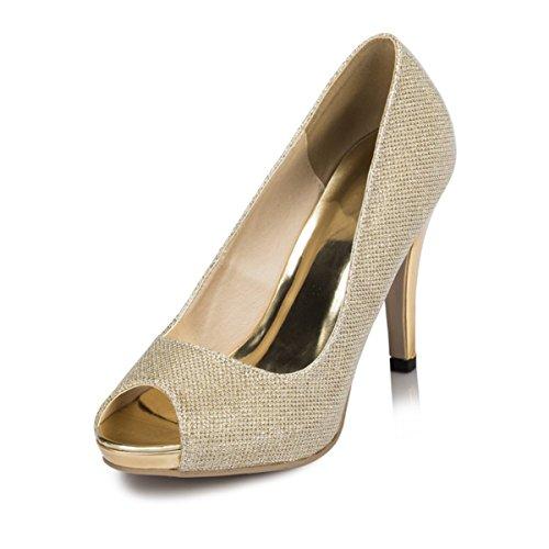 Gold Hochzeitsschuhe Fashion Damen Kevin Modische 4ZqIFwxwB