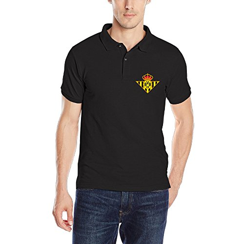 Dortmund Footbal Club Mens Casual Polo Teeshirt Size L Color Black