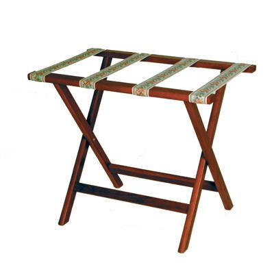 Wooden Mallet Deluxe Straight Leg Luggage Rack, Mahogany, Brown (Wood Luggage Rack)