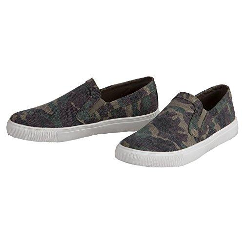 Corkys Womens Jungle Slip On Fashion Sneaker (Camo, 9)
