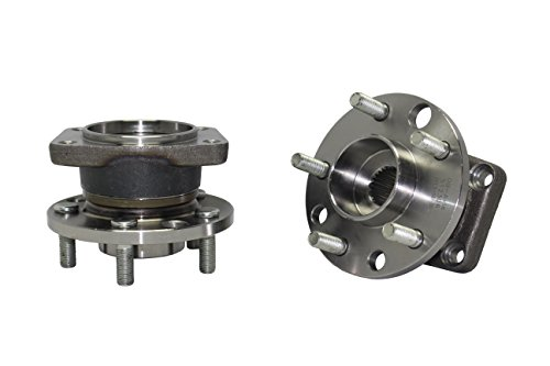 Brand New (Both) Rear Wheel Hub and Bearing Assembly 2002-08 Jaguar X-Type 5 Bolt W/o ABS (Pair) 512306 x2 by Detroit Axle
