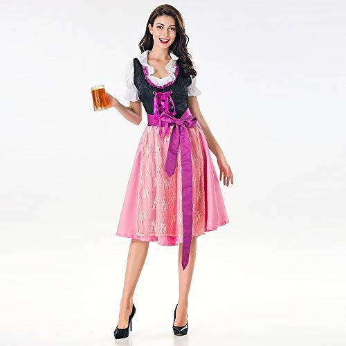 Drindl BiRe Dress Rose pour Femme Dirndl Fille Tavern De Wardrobe Costume pour Bavarois Maid Yogogo D'Oktoberfest FemmeCostume wqf7pFvg
