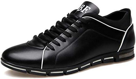 [해외]Men Leather Shoes Casual Loafers Lace-up Round Toe Business Dress Shoes (US:7.5 Black) / Men Leather Shoes Casual Loafers Lace-up Round Toe Business Dress Shoes (US:7.5 Black)