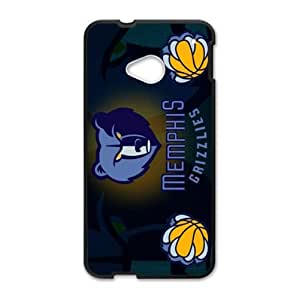 Fashionable designed HTC One M7 Case with Memphis Grizzlies Logo (Laser Technology)-by Allthingsbasketball
