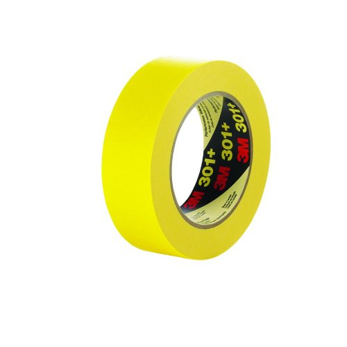 3M Performance Yellow Masking Tape 301+, 48 mm x 55 m (Case of 24) by 3M