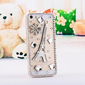 WEV LUXURY Diamond Gem Back Cover Case for iPhone 5/5S